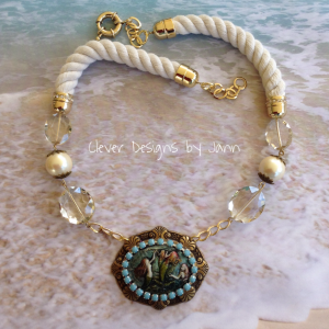 Mermaid Cab Necklace