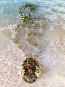 Seahorse Cab Necklace