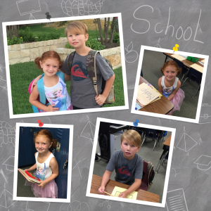 Jake and Madi .. 1st day of School
