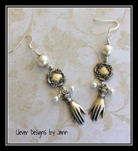 glove earrings