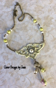 owl ice enamels necklace