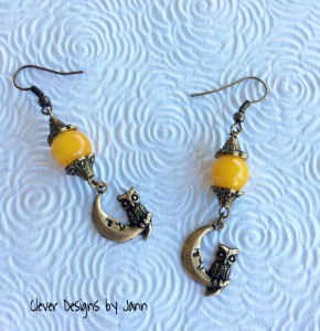 owl moon earrings